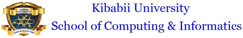 Kibabii University School of Computing & Informatics